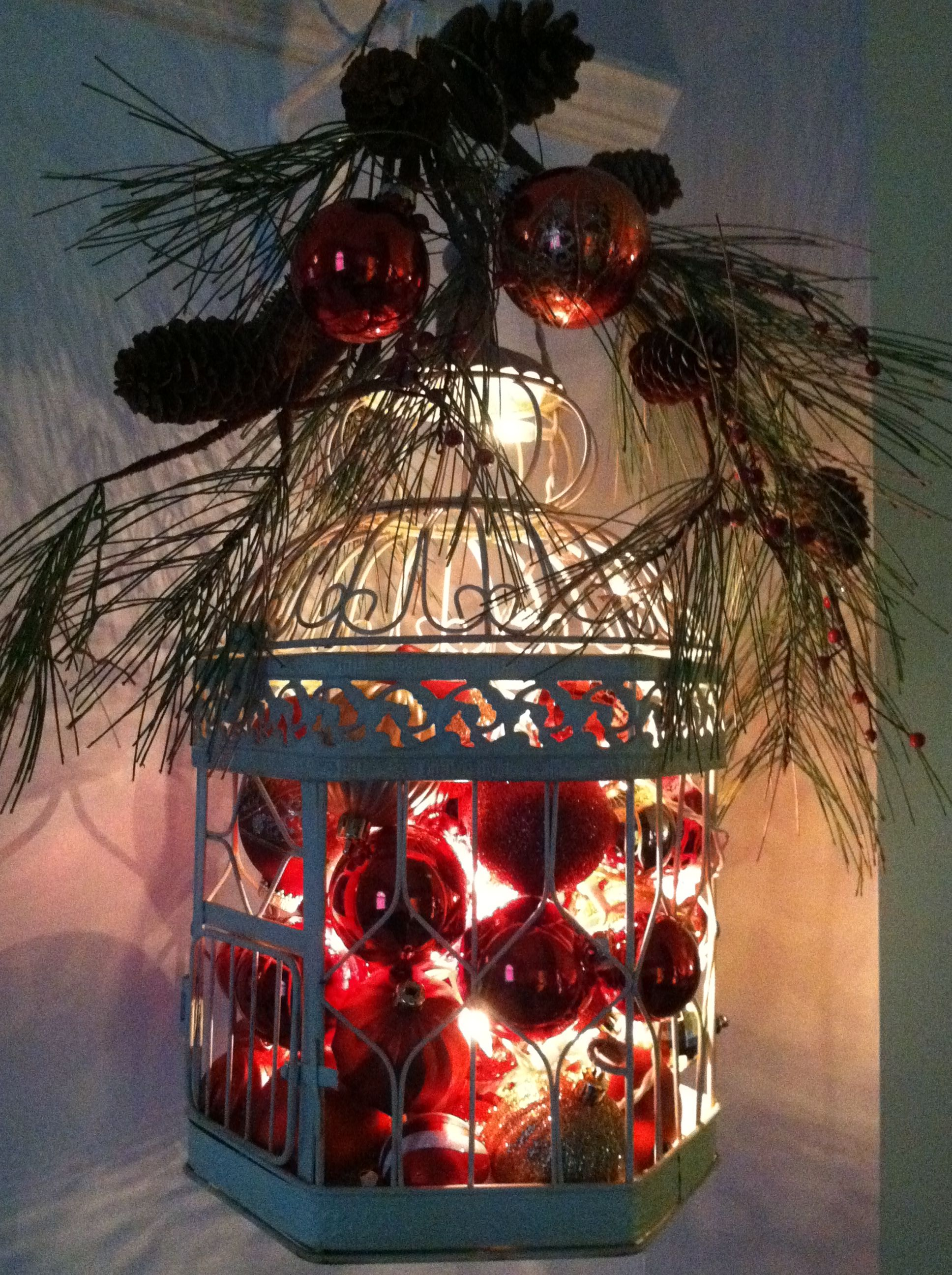 Lighted Christmas Birdcage Or Christmas Lantern 1 Add Set Of