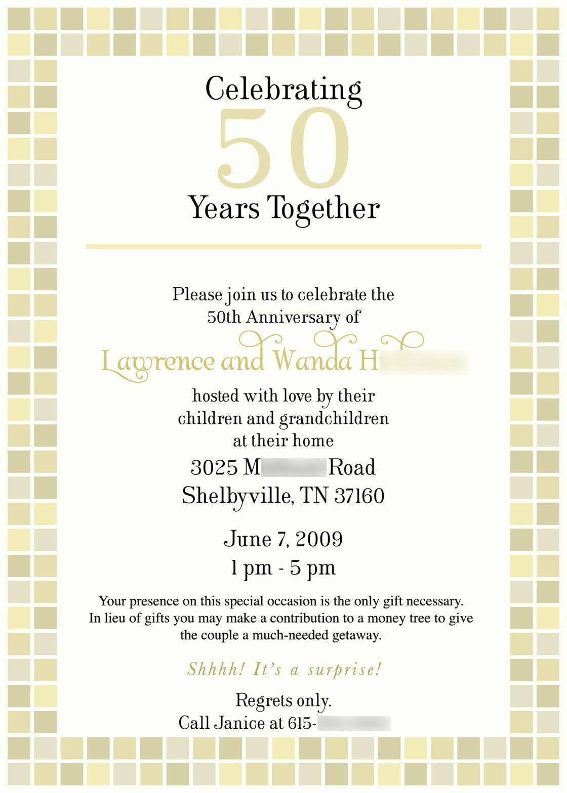 Pin by elida villarreal on 50th pinterest invitation wording shower invitations anniversary 50th stopboris Image collections