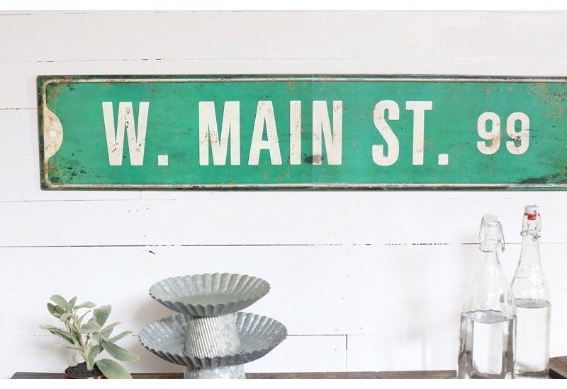 Street Sign Home Decor Prepossessing Main Street Wall Sign Metal Main Street Wall Sign Old Street Review