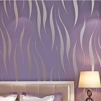Textured Flocking Damask Striped Wallcoverings Rolo ,Stripe Wallpaper, Modern silver glitter Stripes Wallpaper roll