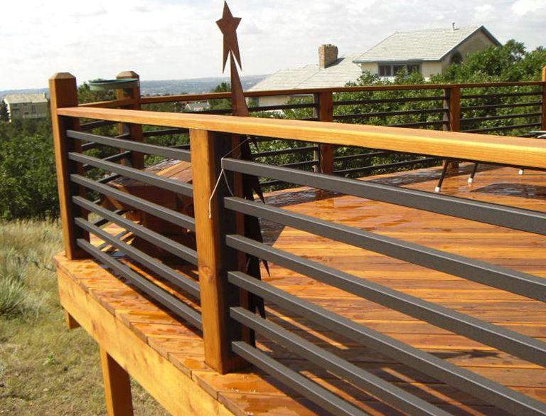 Exceptional Horizontal Steel Deck Railing