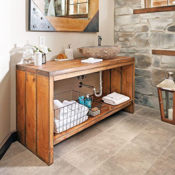 Comment fabriquer un meuble lavabo en bois? Searching - peinture sur meuble bois