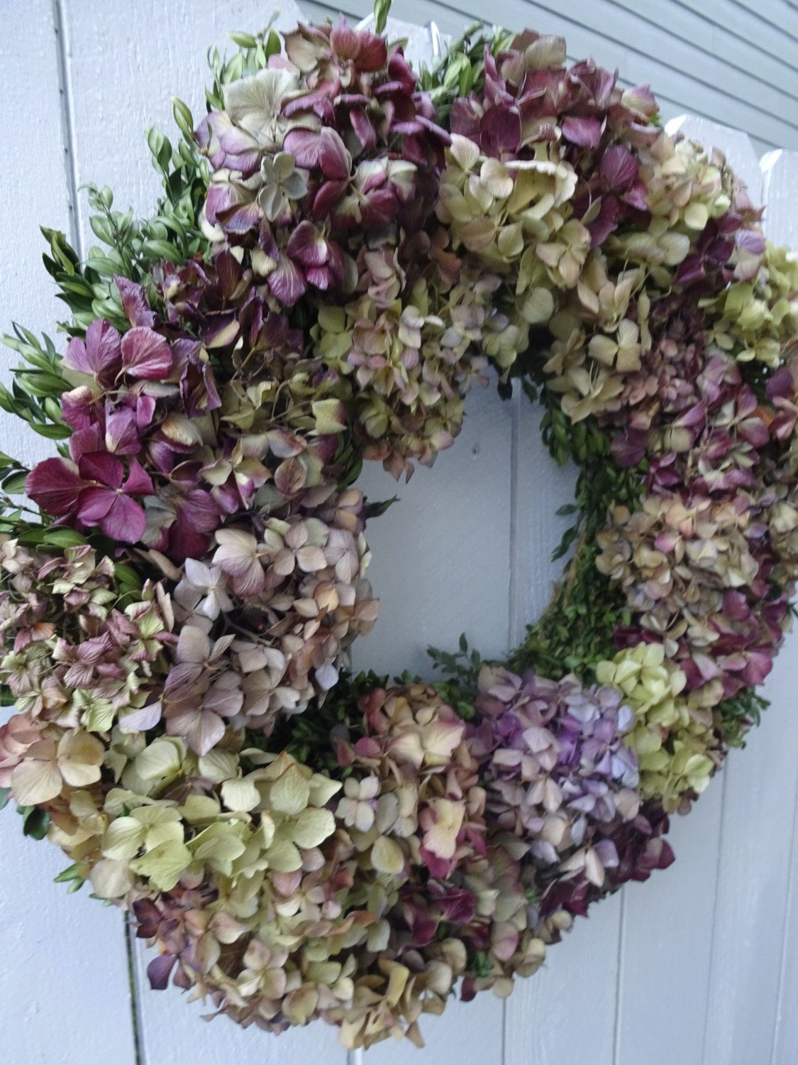 Hydrangea Wreath Boxwood Wreath Dried Wreath Natural Wreath Door Wreath Home Decor Easter Wreath Mothers Day