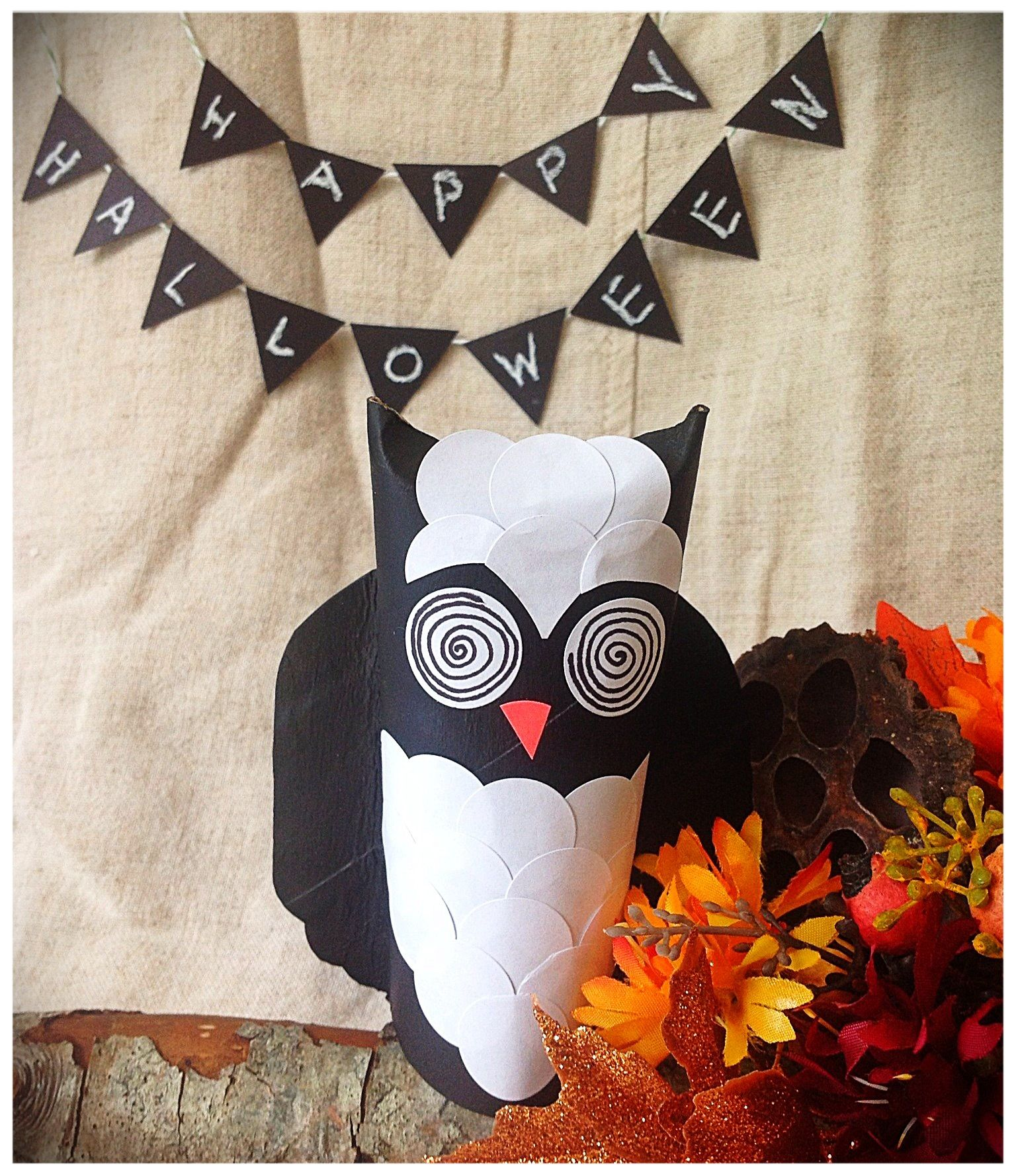 Halloween decorations to make out of paper - Diy Halloween Decoration Made Out Of Toilet Paper Roll Paper Craft