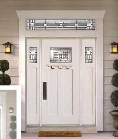 Masonite Naples Glass Craftsman Style Doors Wood Front
