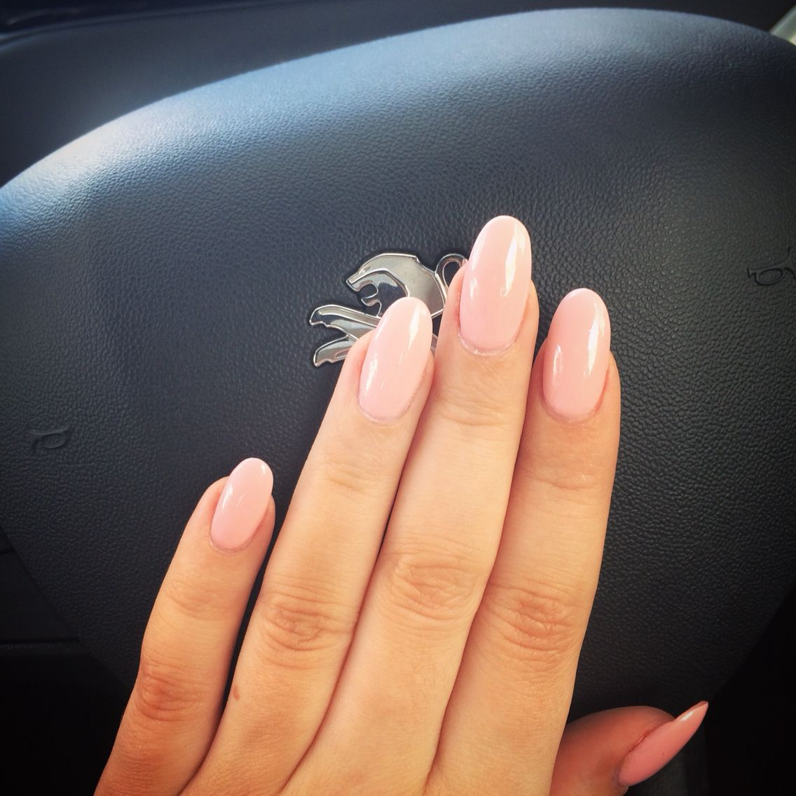 Pale Pink Acrylic Light Pink Acrylic Nails Oval Acrylic Nails Rounded Acrylic Nails