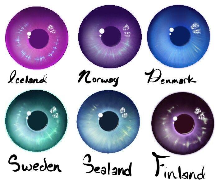 Hetalia Eye Colour Collection 2 By Zvezdnyy On Deviantart Hetalia Nordics Hetalia Anime Eyes