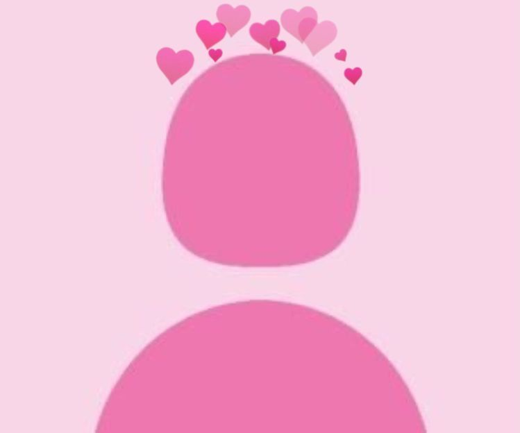 Foto profil wa couple aesthetic. Pink Default Profile Picture With Heart Crown Lukisan Cahaya Foto Sampul Contoh Kartu Nama