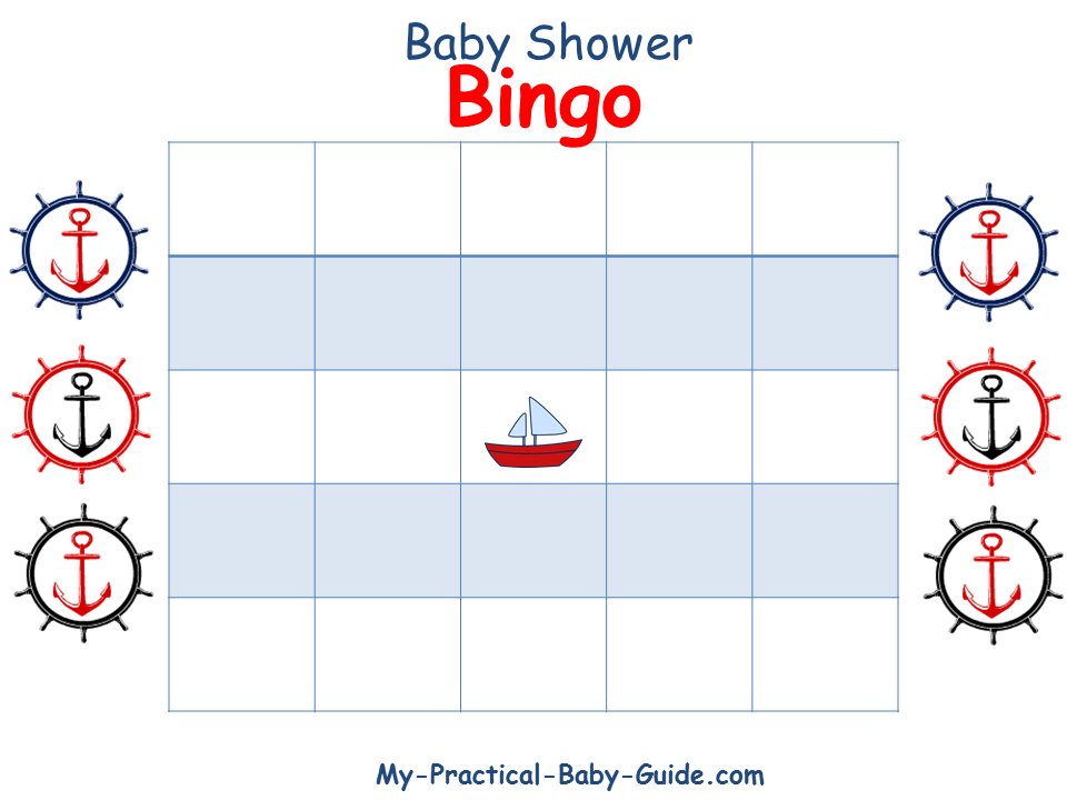 Free Printable Nautical Baby Shower Gift Bingo Cards Click For More Ideas Tips And Printables