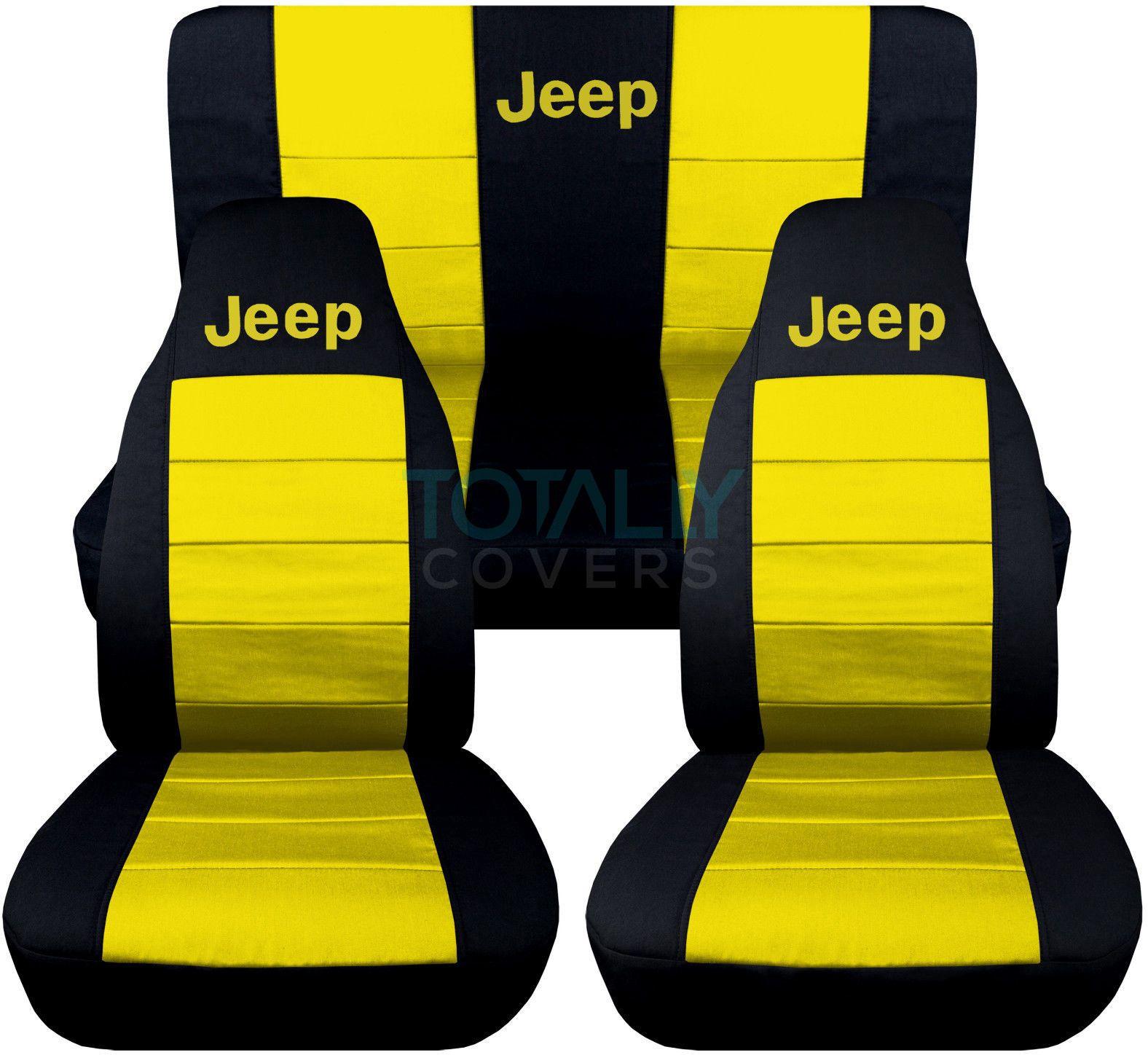 Details About Jeep Wrangler Yj Tj Jk Jl 1987 2020 2 Tone Seat