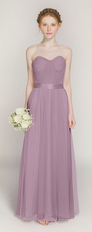 Pastel pink bridesmaid dress  Long Sweetheart Pink Tulle Bridesmaid Dress TBQP  Bridal parties