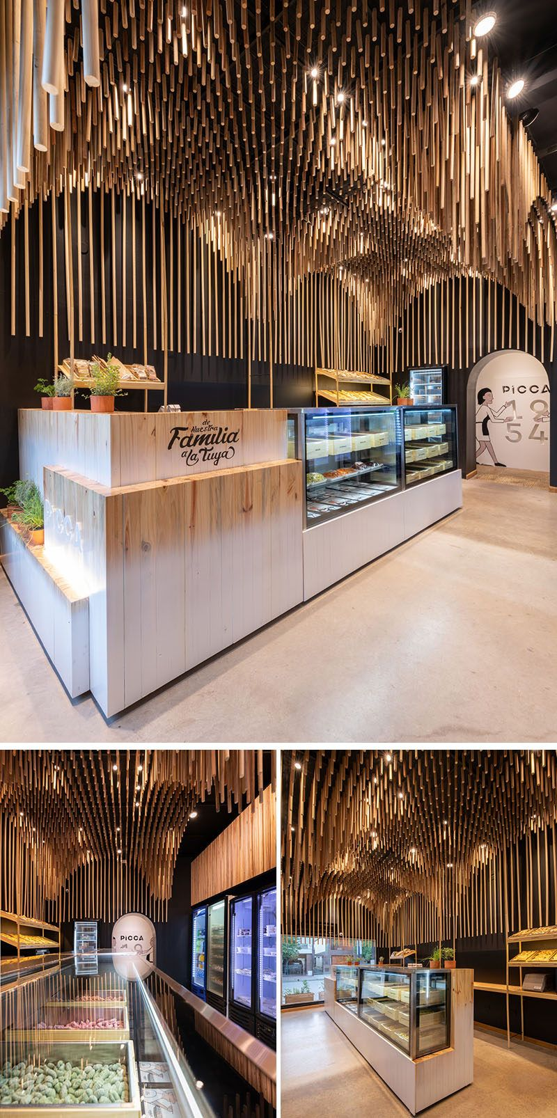 This Ceiling Was Inspired By Pasta | Retail interior ...