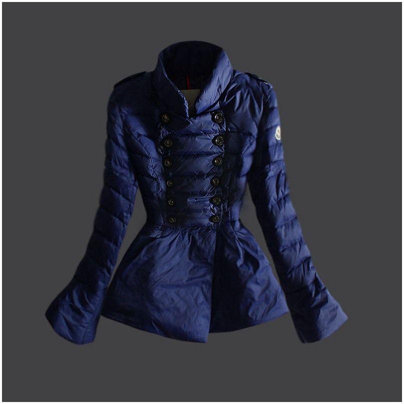 moncler doudoune site officiel - Doudoune Moncler Femme Boutons Bleu ... 948e4107c43