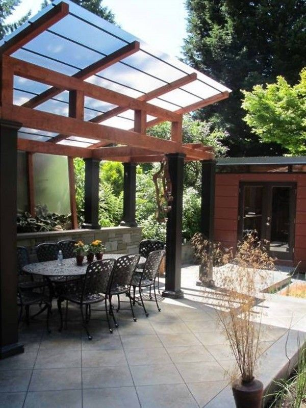 Clear Corrugated Patio Cover: Pergola Roof Material Kinds