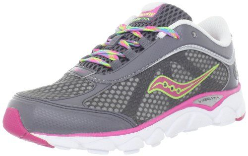 Saucony Girls Virrata Shoe (Little Kid/Big Kid) -  	     	              	Price:              	View Available Sizes & Colors (Prices May Vary)        	Buy It Now      • She'll be set for speed with this fast-paced running shoe • Synthetic/mesh upper • Injection-molded EVA midsole with grid system for superior cushioning and flexibility • Ant...