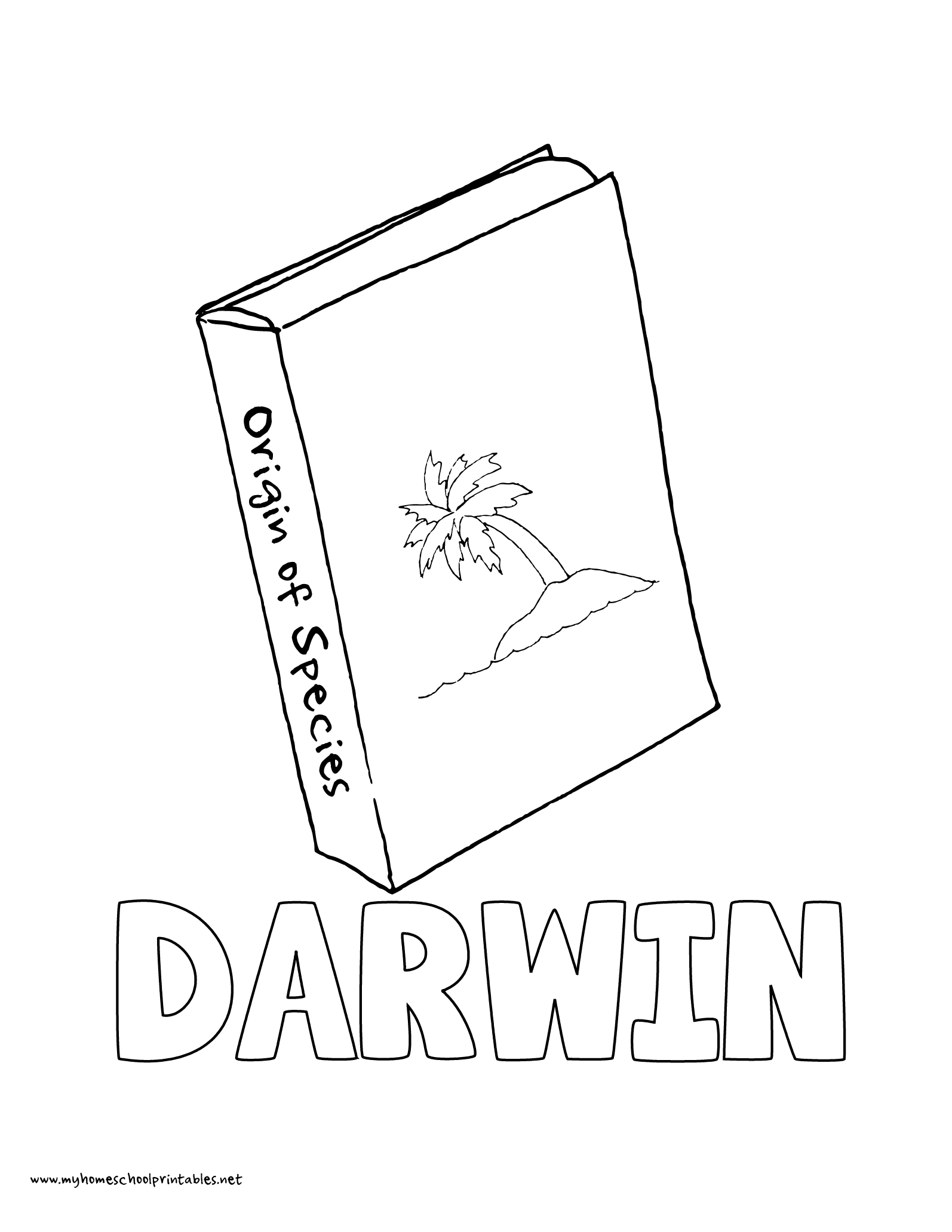 world history coloring pages printables charles darwin origin of