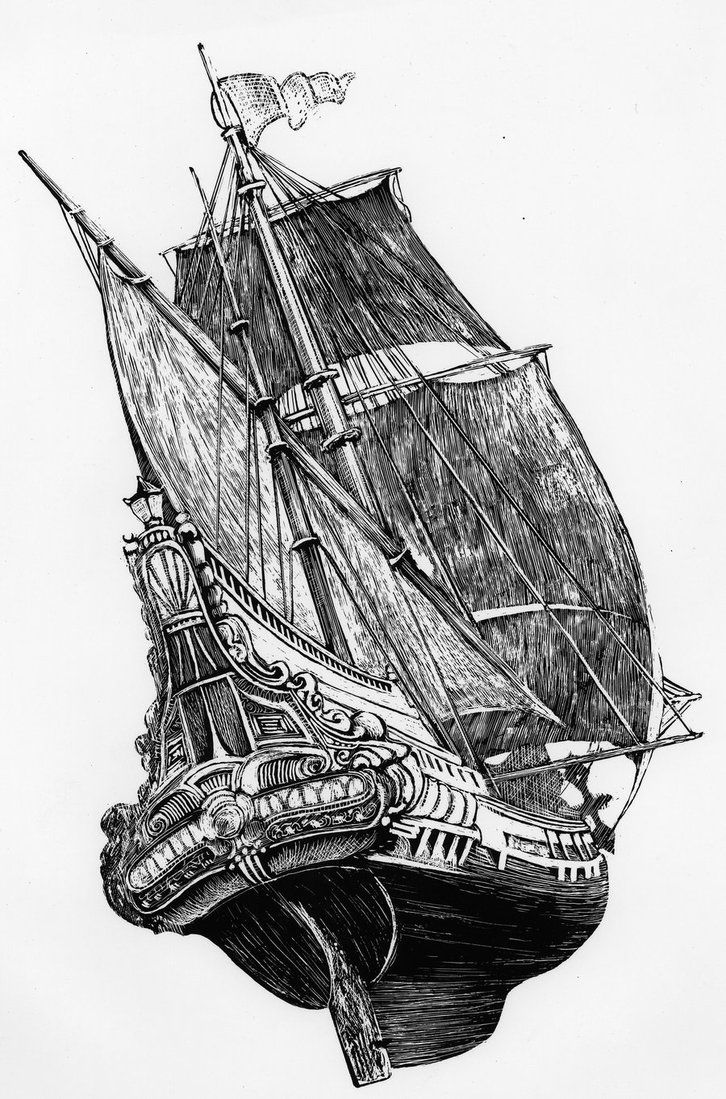 Galleon By Dadder Drawings Art Watercolors Bateaux Vaisseau