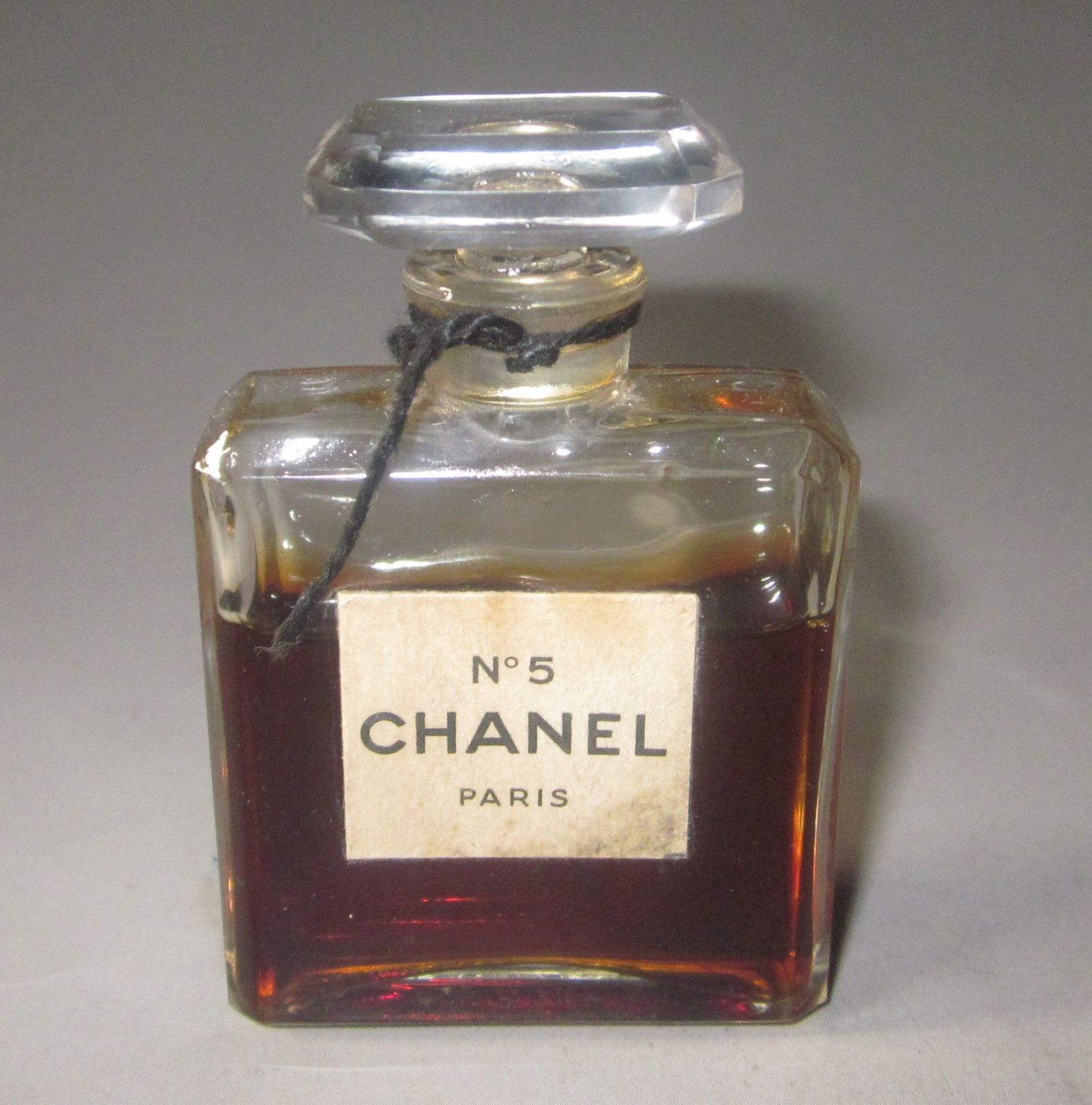 1930s Rare Old Stock Vintage Crystal Chanel No 5 Perfume Bottle