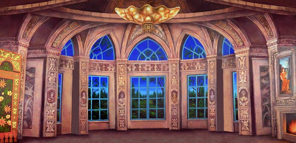 Baroque Ballroom Scenic Backdrop Rental