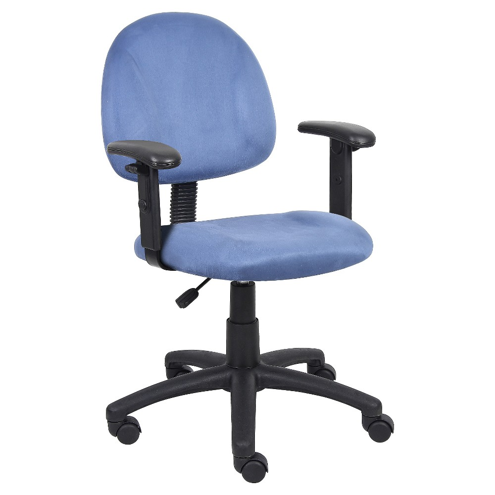 Best Microfiber Deluxe Posture Chair With Adjustable Arms Blue 400 x 300