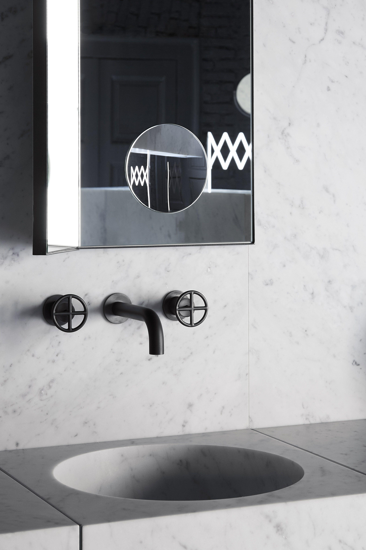 Lavabo integrato Alfeo in marmo - Specchio Archimede