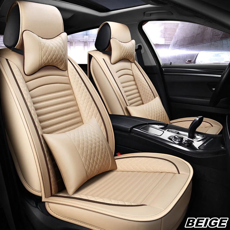 Black White Leather Car Seat Cover Set Universal Classic Leather Car S Grace Lead Leather Car Seat Covers Car Seats Car Seat Cover Sets