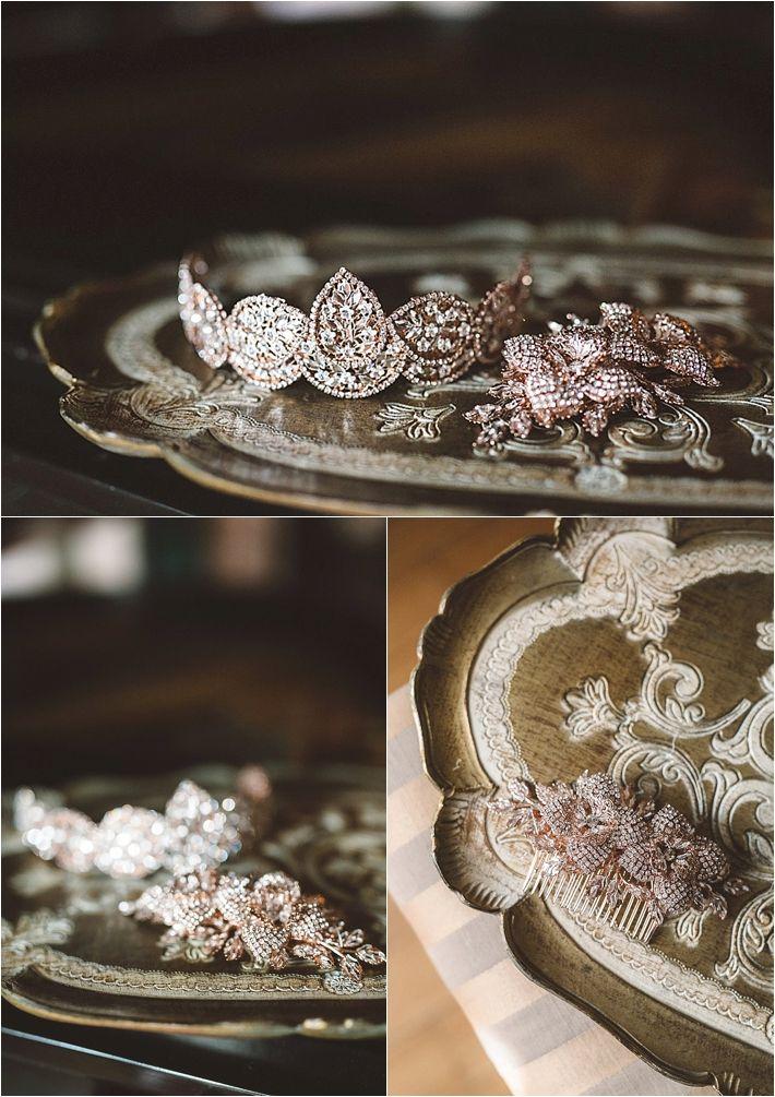 Sparkly bridal jewelry
