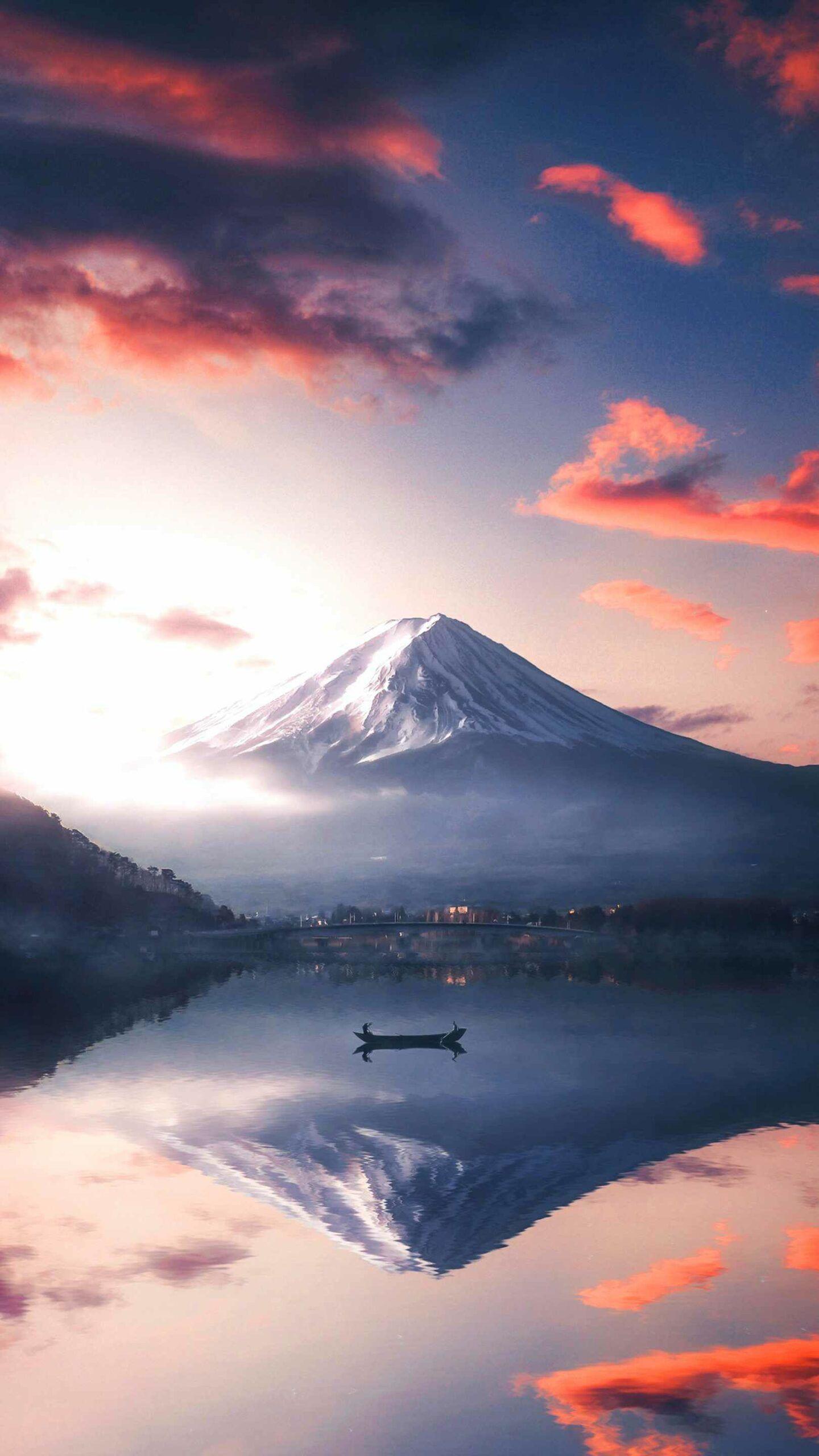 Mount Fuji Adventures IPhone Wallpaper in 2020 (With