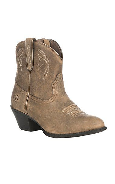 Ariat Darlin Western Block Heel Booties RsYt8Q