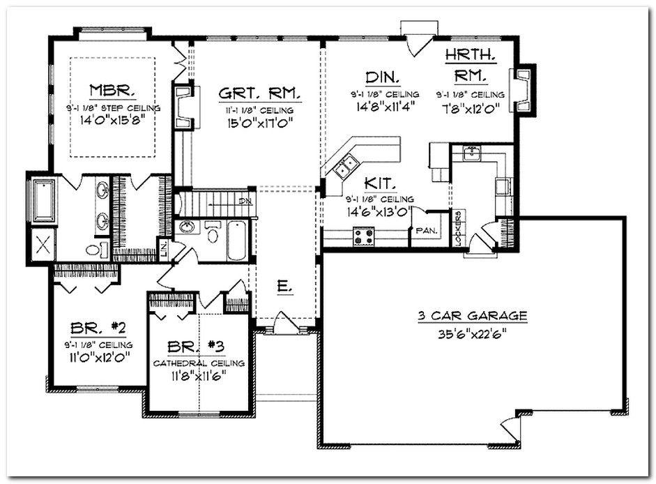 House Plans With Open Floor Plans Best Open Floor House Ranch