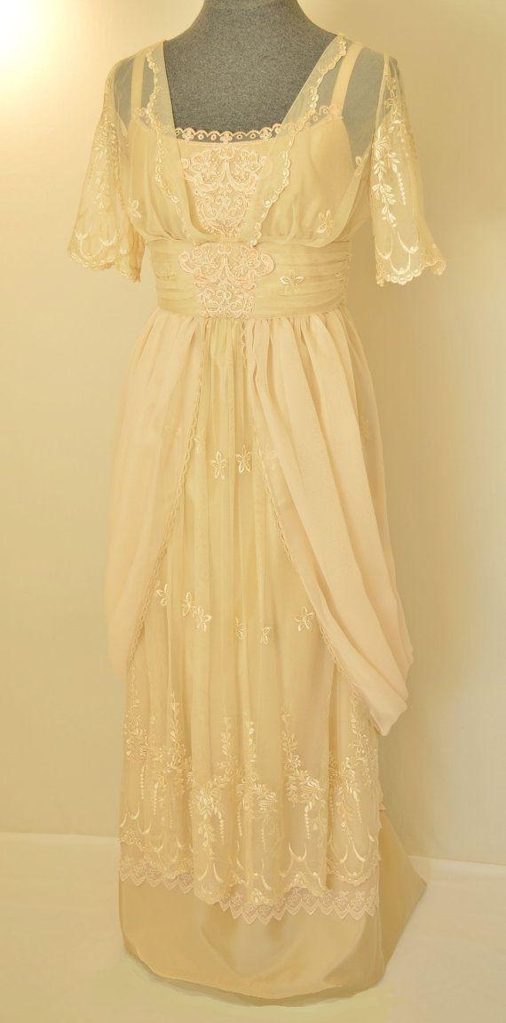 Edwardian Wedding Dress, Lace Wedding Dress, Victorian Wedding Gown ...