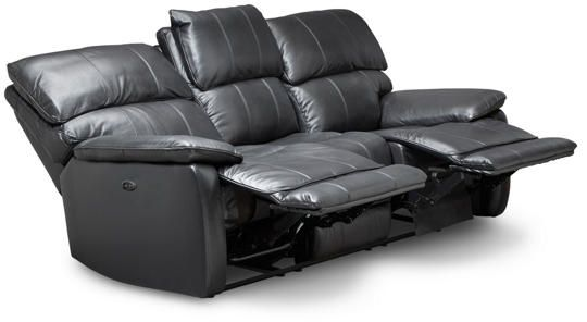 Wondrous Sloan Black Power Reclining Leather Sofa Suburbs Leather Uwap Interior Chair Design Uwaporg