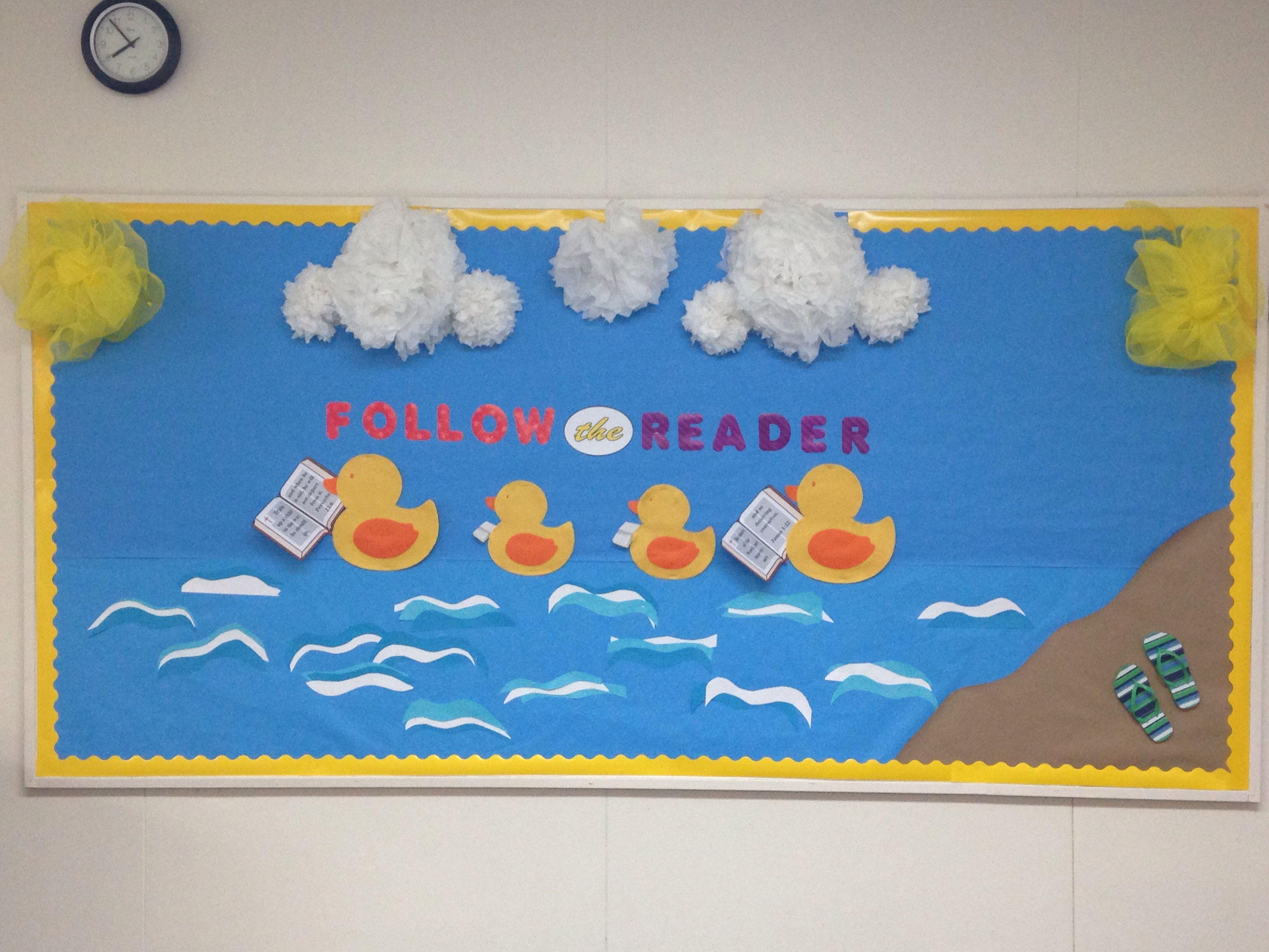 Spring Rubber Duck Bulletin Board
