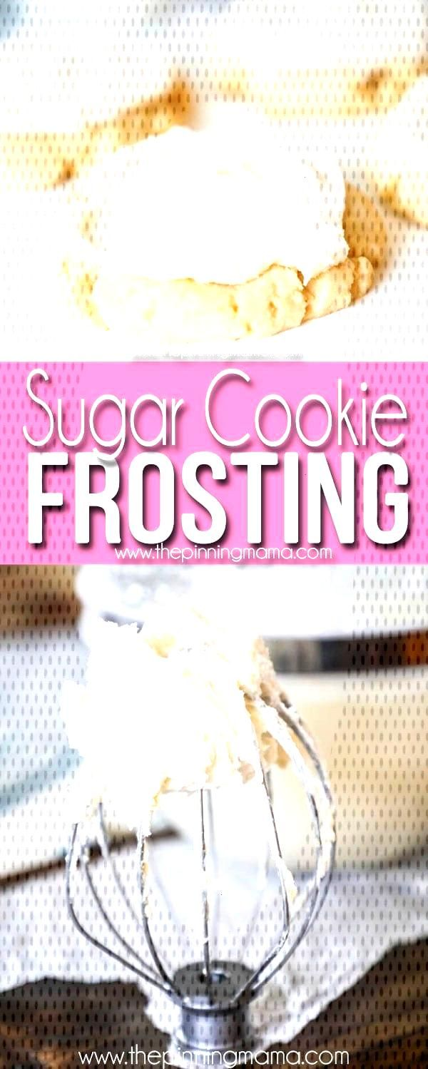 Sugar Cookie Frosting • The Pinning Mama#cookie