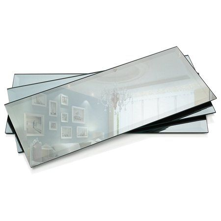 Bevelled Square Mirrors Mirror Plates Wedding Table Decoration Centre Piece 3mm