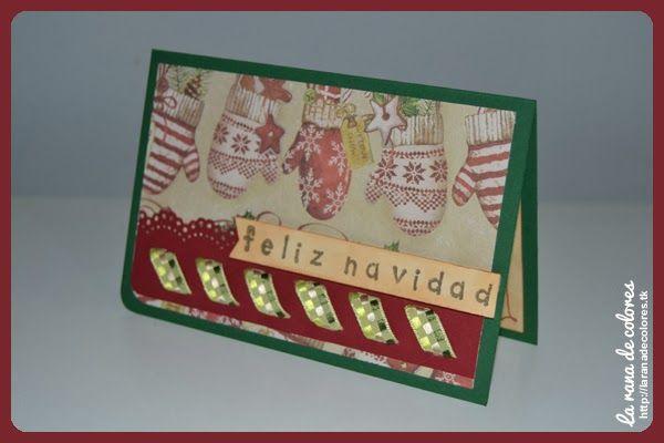 Cómo hacer una tarjeta de Navidad Scrap Navidad Pinterest