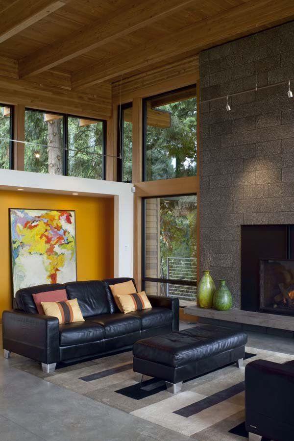 71 Contemporary Exterior Design Photos: Striking Modern Home Nestled On The Columbia River