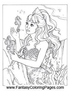 sexy coloring pages for adults google search - Coloring Pages Mermaids Realistic
