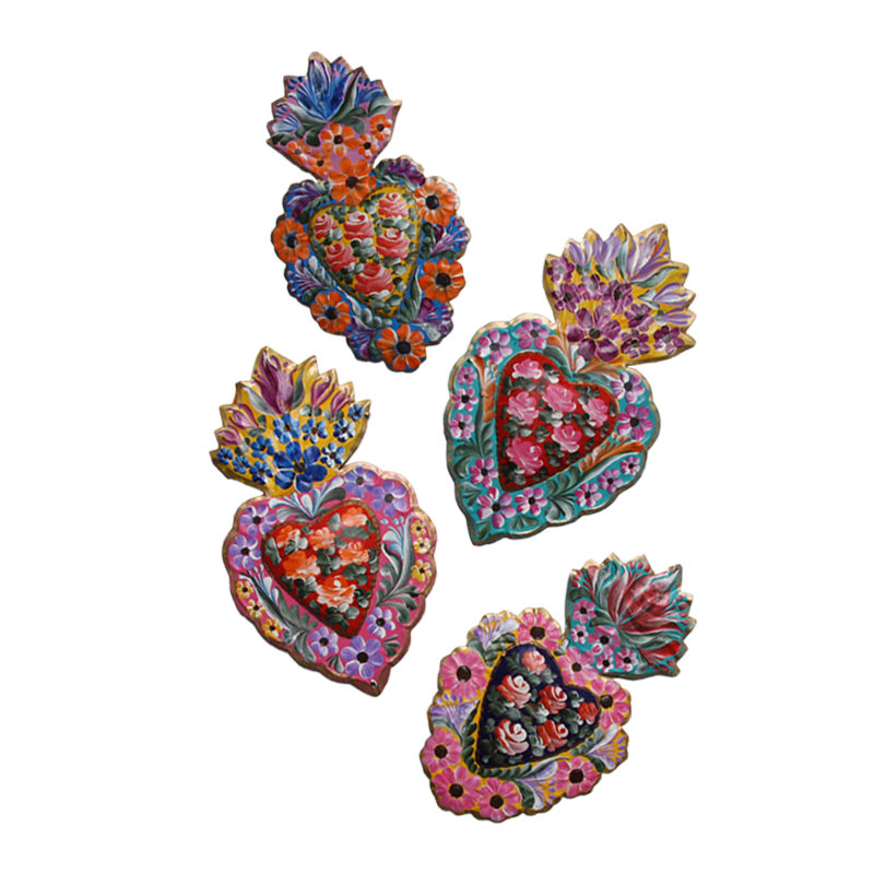 Mexican painted heart