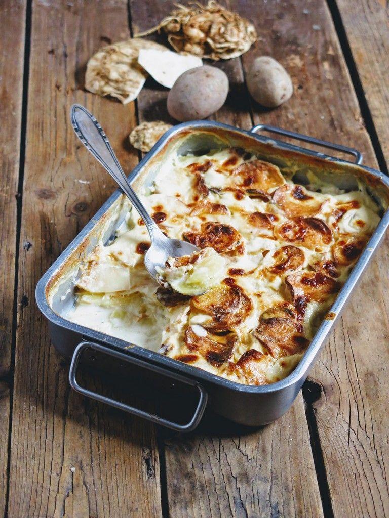 Gratin de céleri-rave aux pommes de terre | Recette céleri ...
