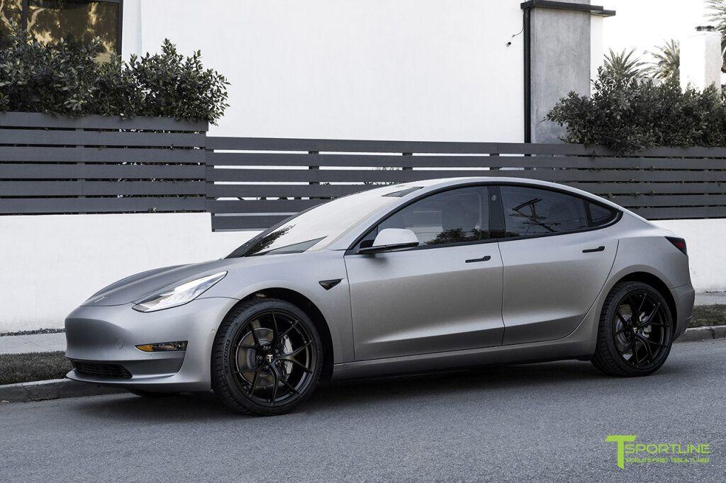 Matte Metallic Gunmetal Tesla Model 3 Black Leather Diamond In 2021 Tesla Model Tesla Model S Tesla