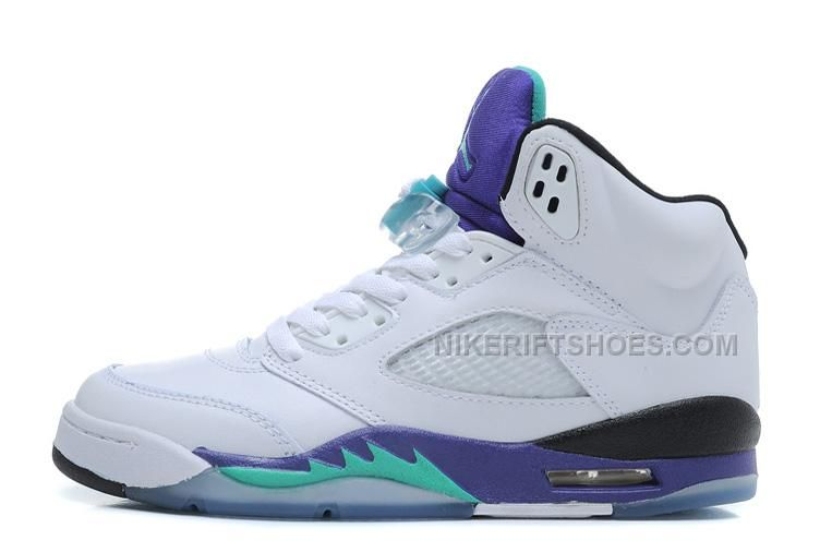 1a608449ee3 Air Jordan 5 Retro White New Emerald-Grape-Ice Blue For Sale Online from  Reliable Big Discount! Air Jordan 5 Retro White New Emerald-Grape-Ice Blue  For Sale ...