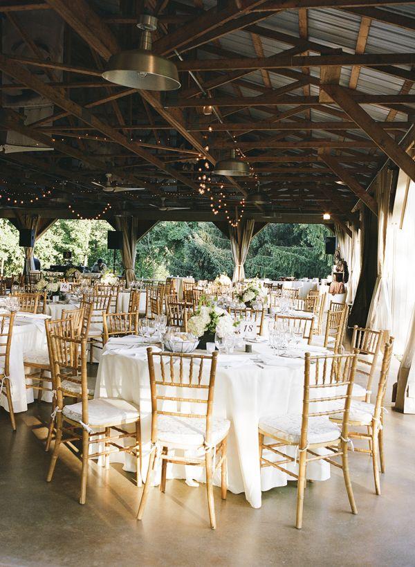 DIY Rustic Summer Wedding Wedding reception decorations