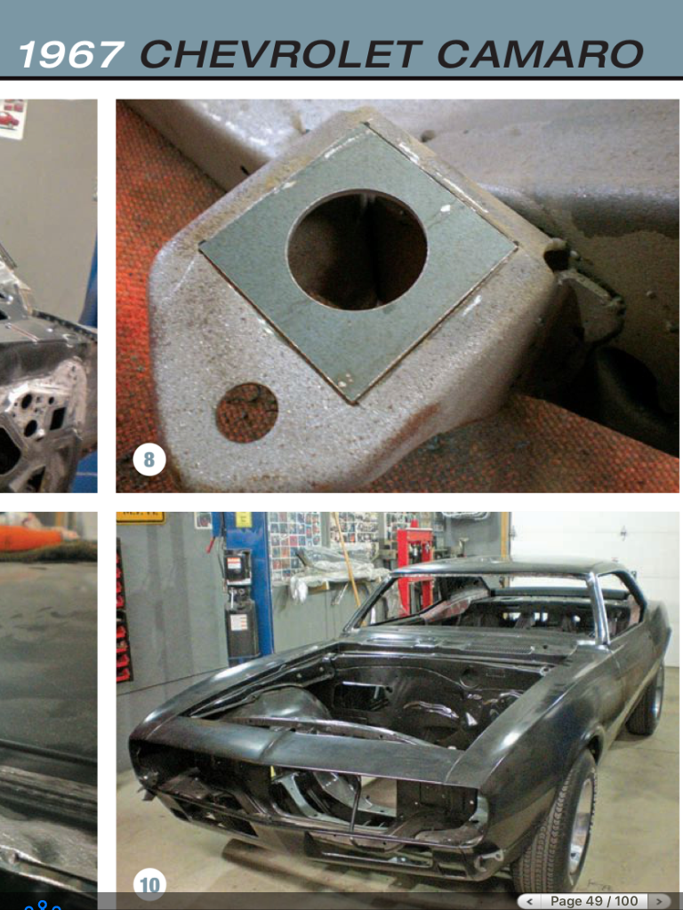 Subframe Repair 1968 Camaro Camaro Chevrolet Camaro