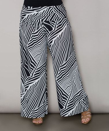 b266b801963 Find this Pin and more on My fashion sense!! by aperez320. Sealed With a Kiss  Designs Black   White Edie Pants - Plus. Plus Size Printed Palazzo Pants