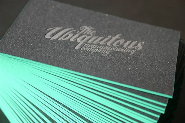 Excellent Edge Printed Business Cards Letterpress Business Cards Printing Business Cards Edge Painted Business Cards