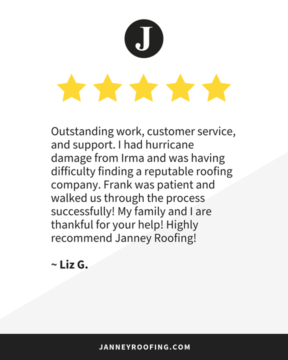 We Great Feedback Like This Thank You Liz For Sharing Your Janneyroofing Story Giving Us A Google Review Roofing Google Reviews Roofer