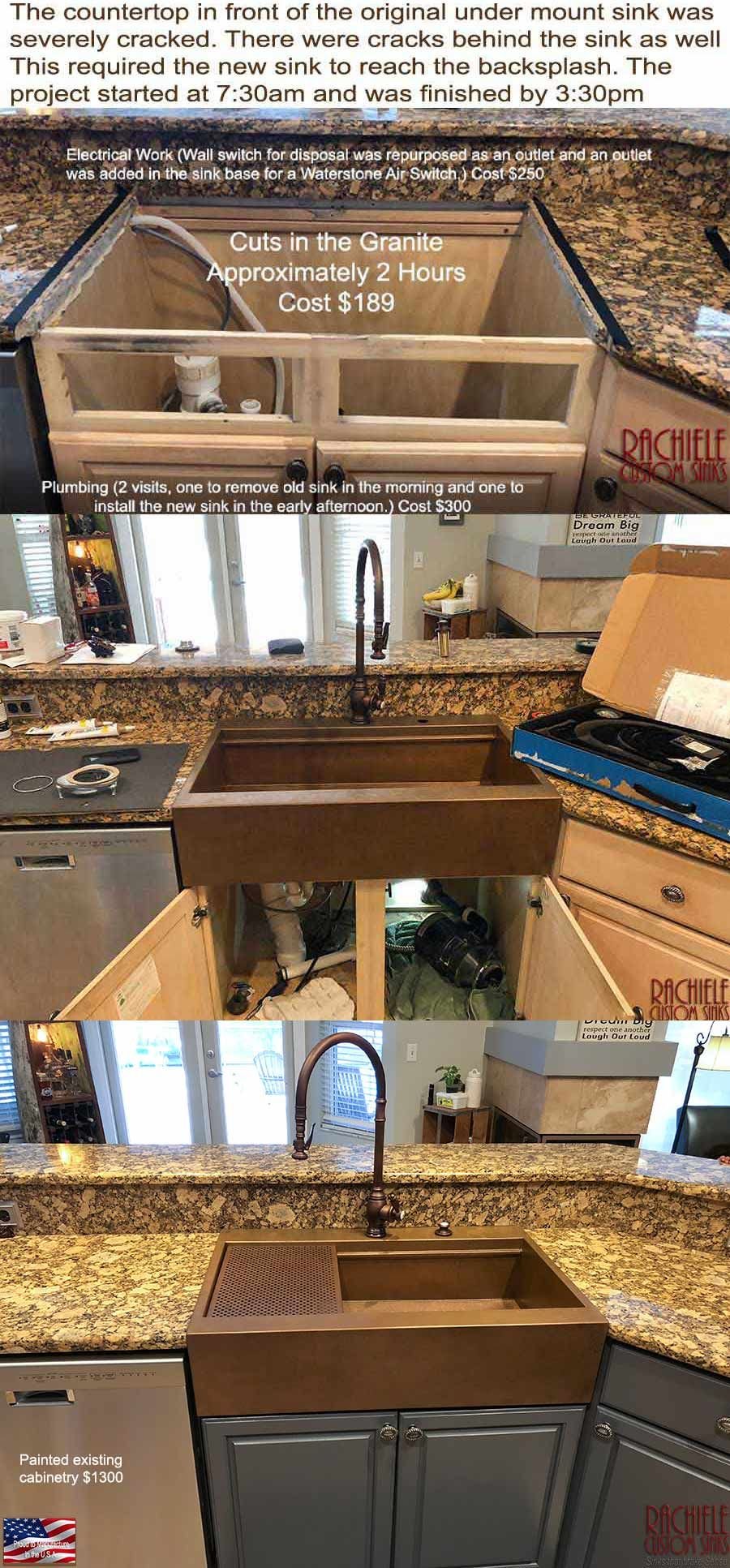 Cracks In Your Granite Counter And Your Contractor Told You You Have To Replace All Of The Granite No More I Own The Pate Drop In Kitchen Sink Farm Sink Sink