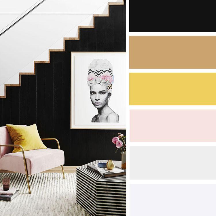 Welche Farbe Passt Zu Gelb Wohnideen Und Gestaltungsbeispiele In Verschiedenen Nuancen Dek Zimmer Farbschemata Schlafzimmer Farbschemata Schwarze Wohnzimmer