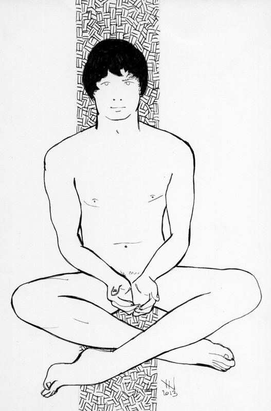 NAKED ART SERIES · Male // ARTIST · Jordi NN // #Naked #Nude #Art #Draw #Ink #Man #Body